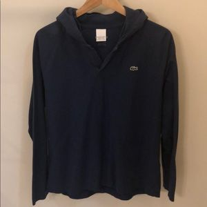 Lacoste long sleeve hooded shirt